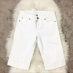 Kut from the Kloth capri white pants